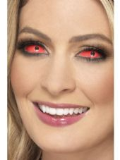 Red Sclera Contact Lenses 6 Month Use Only